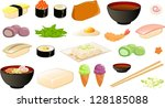 vector illustration of various... | Shutterstock .eps vector #128185088