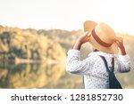 female tourists in beautiful... | Shutterstock . vector #1281852730