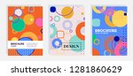 collection of covers with... | Shutterstock .eps vector #1281860629