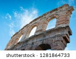 arches and details of famous... | Shutterstock . vector #1281864733