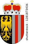coat of arms of upper austria... | Shutterstock .eps vector #1281873436