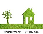 concept or conceptual house...   Shutterstock . vector #128187536