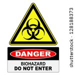 biohazard  danger sign warning | Shutterstock .eps vector #128188373