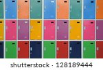 colorful lockers | Shutterstock . vector #128189444