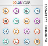 mobile connection vector icons...   Shutterstock .eps vector #1281898036