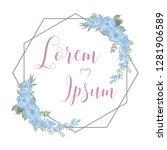 floral frame set component   Shutterstock .eps vector #1281906589