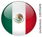 mexico flag button | Shutterstock . vector #128190698