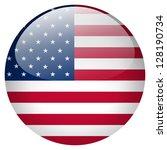 usa flag button | Shutterstock . vector #128190734