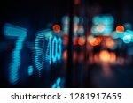 financial stock exchange market ...   Shutterstock . vector #1281917659