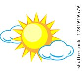 sun and clouds icon for a... | Shutterstock .eps vector #1281919579