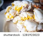 close up of steamed crab on... | Shutterstock . vector #1281923023