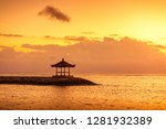 karang beach  sanur  bali ... | Shutterstock . vector #1281932389