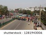 dhaka  bangladesh   january 12  ... | Shutterstock . vector #1281943006