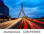 traffic moving over the leonard ... | Shutterstock . vector #1281955003