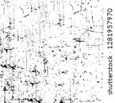 rough grunge pattern design.... | Shutterstock .eps vector #1281957970