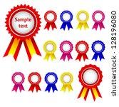set od ribbon awards  vector... | Shutterstock .eps vector #128196080