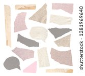 collection of ripped decorative ... | Shutterstock . vector #1281969640