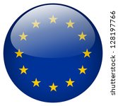 eu flag button | Shutterstock . vector #128197766