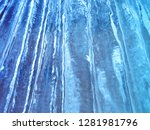 colorful ice texture. blue ice  ... | Shutterstock . vector #1281981796