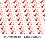 happy valentine's day with... | Shutterstock .eps vector #1281988600