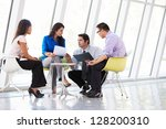businesspeople having meeting... | Shutterstock . vector #128200310