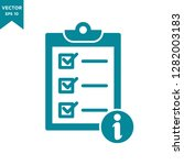 checklist icon  information icon | Shutterstock .eps vector #1282003183