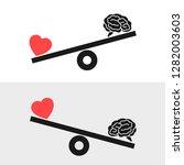 balance between irrational love ... | Shutterstock .eps vector #1282003603