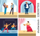 performing arts  different... | Shutterstock .eps vector #1282007503