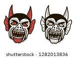 devil heads illustration. | Shutterstock .eps vector #1282013836
