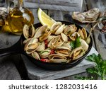 Cooked Seafood Steamed Clams In ...