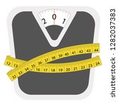 weight loss scale logo   vector ... | Shutterstock .eps vector #1282037383