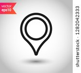 location in map tag vector sign....