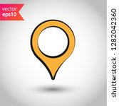 location in map tag vector sign....   Shutterstock .eps vector #1282042360