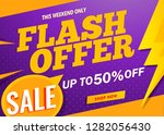 flash offer sale banner template | Shutterstock .eps vector #1282056430