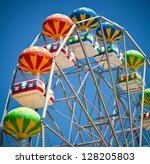 Close Up Of Colorful Ferris...