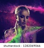portrait of beautiful woman  ...   Shutterstock . vector #1282069066