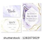 amethyst crystal geode purple... | Shutterstock .eps vector #1282073029