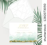 stylish dusty emerald... | Shutterstock .eps vector #1282073050
