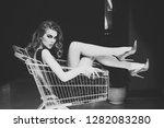 shopper  shopaholic  shopping ... | Shutterstock . vector #1282083280