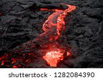 lava flowing from the kilauea... | Shutterstock . vector #1282084390