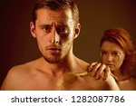 argue of man and woman. argue... | Shutterstock . vector #1282087786