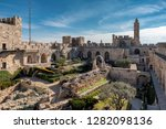 jerusalem old city  david's... | Shutterstock . vector #1282098136