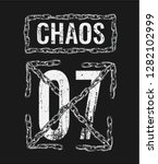 chaos slogan with silver chain... | Shutterstock .eps vector #1282102999
