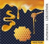 realistic honey in different... | Shutterstock .eps vector #1282105606