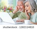 portrait of cute senior couple... | Shutterstock . vector #1282114810