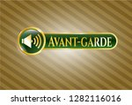 gold shiny badge with sound...   Shutterstock .eps vector #1282116016