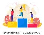 vector illustration. people... | Shutterstock .eps vector #1282119973