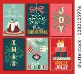 vintage christmas card... | Shutterstock .eps vector #1282125976