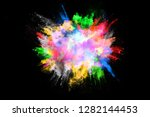 abstract colored dust explosion ... | Shutterstock . vector #1282144453