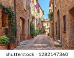beautiful alley in tuscany  old ... | Shutterstock . vector #1282147360